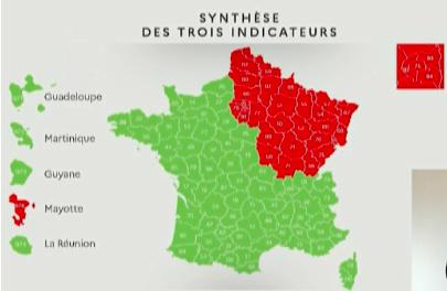 Carte du déconfinement France au 07 mai 2020
