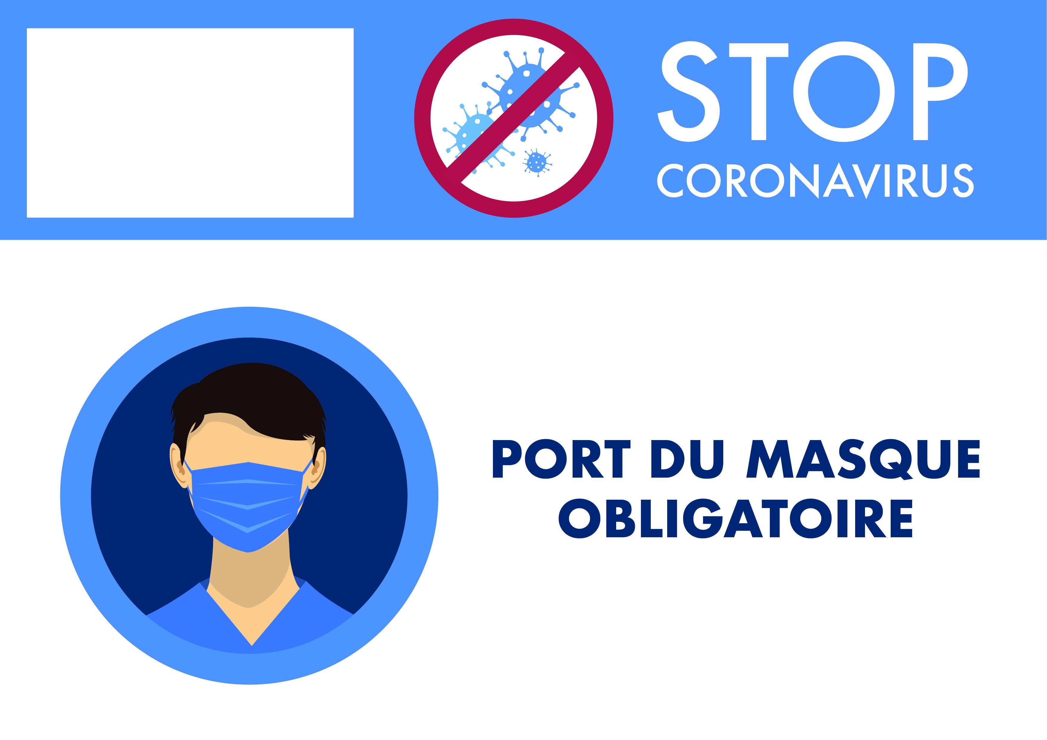 Poster entreprise masque obligatoire
