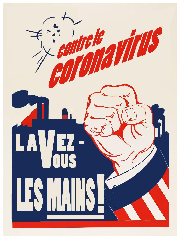 Poster Lavez vous les mains coronavirus