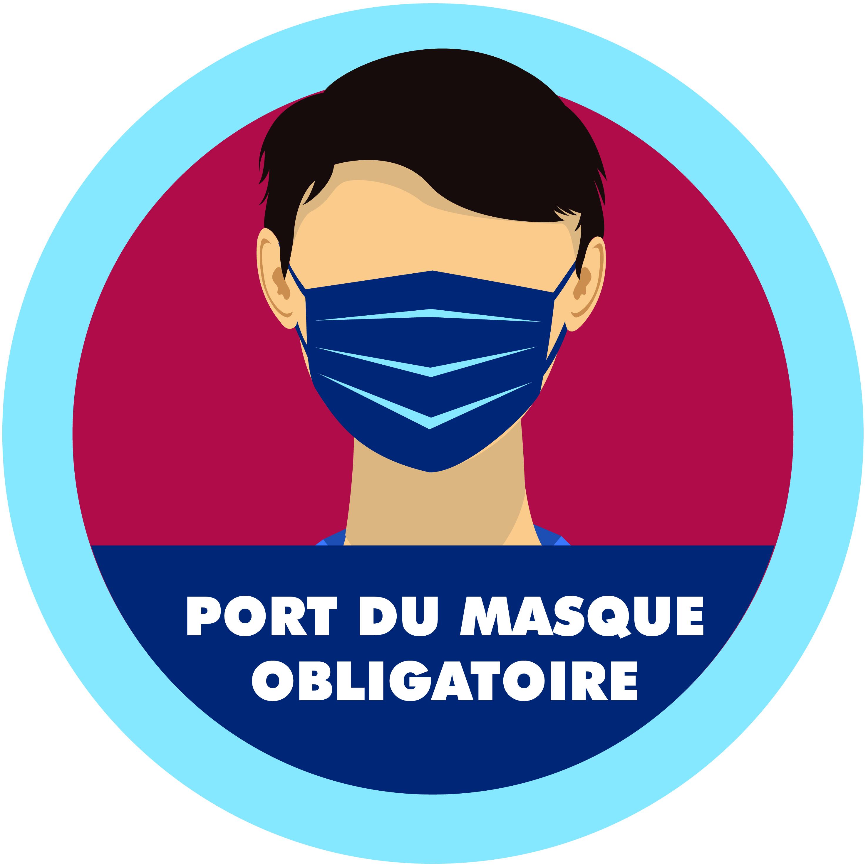 sticker port du masque obligatoire 04