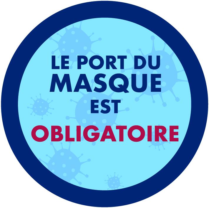 sticker port du masque obligatoire 06