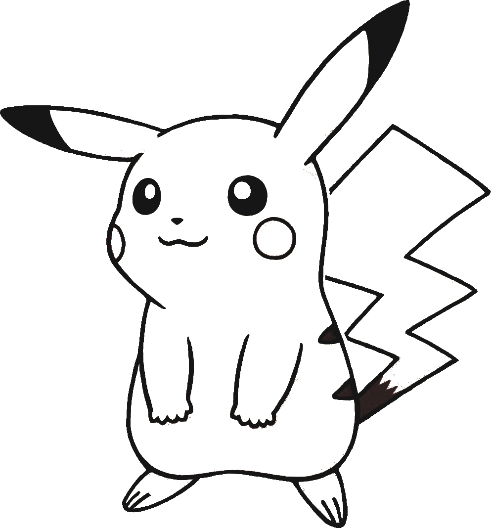 T l charger dessins arts divers coloriage pokemon pikachu gratuitement - Pikachu en dessin ...