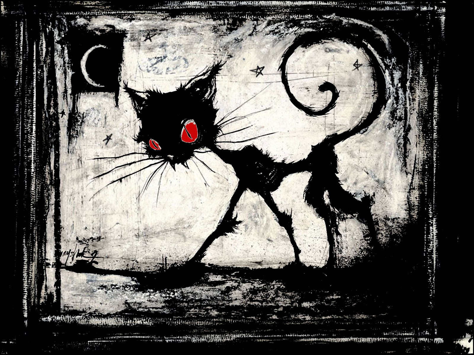 Télécharger fonds d'écran a gothic cat gratuitement