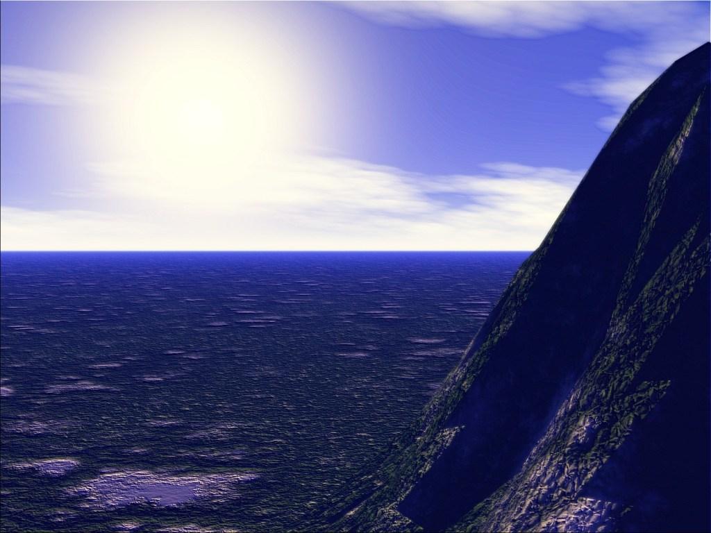 3d blue mountain