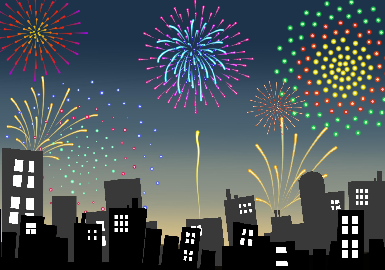 Nouvel an - Feux d'artifice