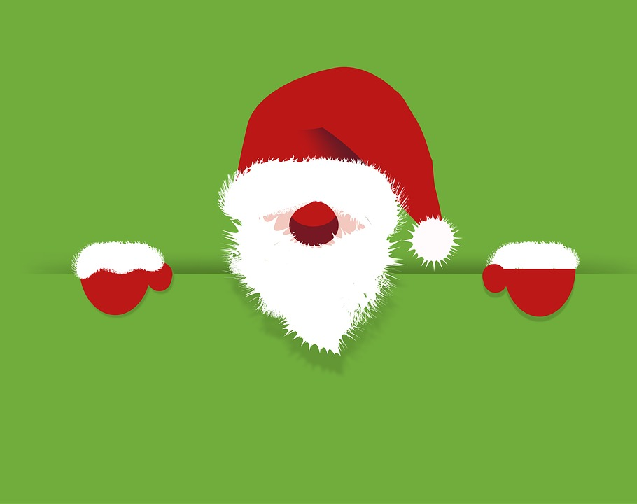 Père Noël fond vert